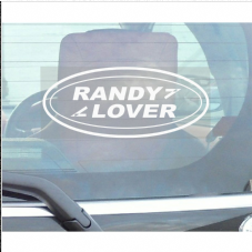 1 x Randy Lover Sticker-Land Rover Range-Defender,Discovery,Freelander-Car Window Sticker-Fun,Self Adhesive Vinyl Sign for Truck,Van,Vehicle